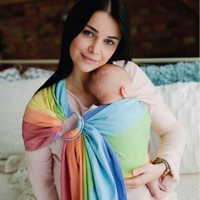 Little Frog Rainbow Aura Ring Sling